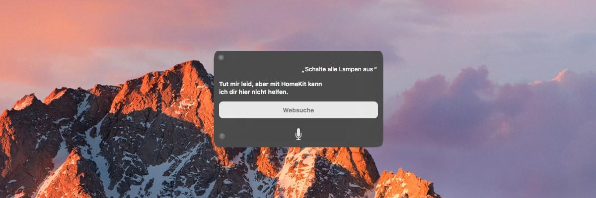 HomeKit über macOS Sierra steuern