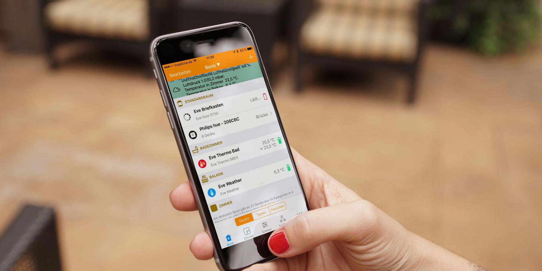 Neuerungen in iOS 10.2 und Update für myHome