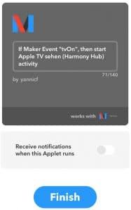 IFTTT Maker Event