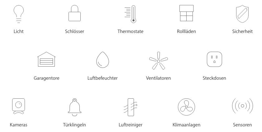 HomeKit Gerätetypen