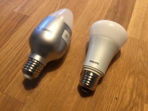 Koogeek LED Lampe im Vergleich zu Philips Hue.