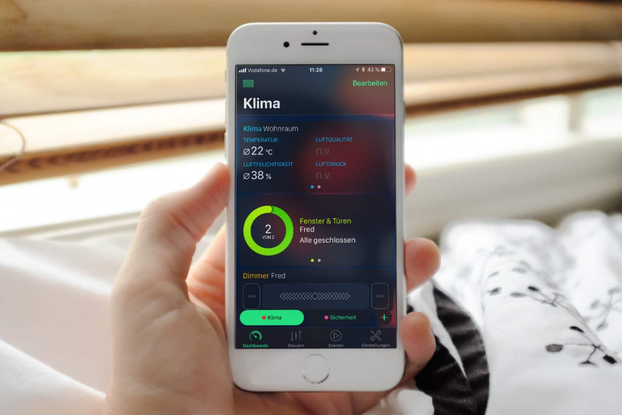 HomeDash: Ein schickes HomeKit Dashboard für iPhone und iPad
