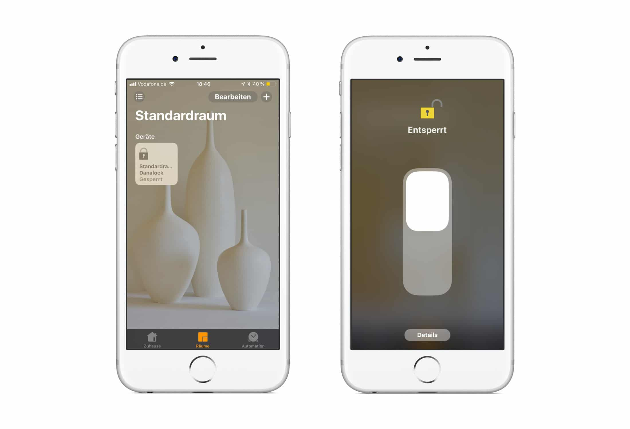 Danalock HomeKit Türschloss Apple Home App