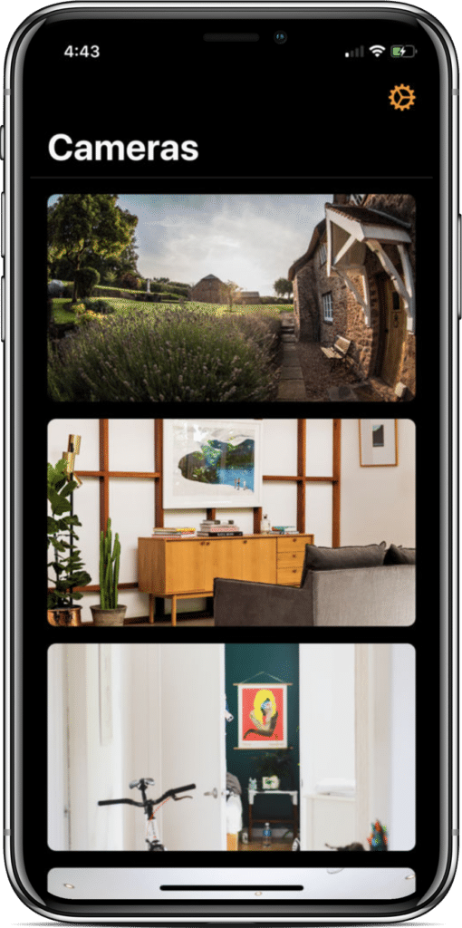 HomeCam HomeKit App Screenshot