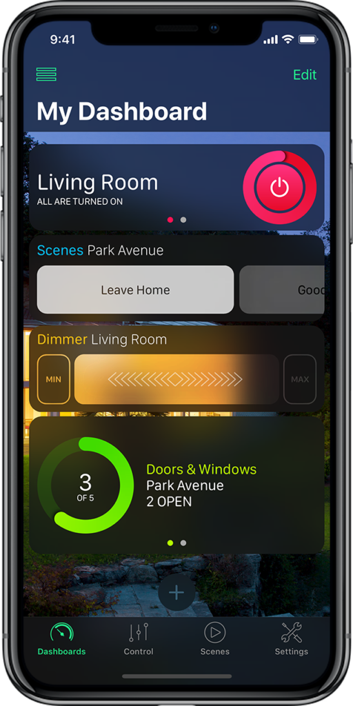 HomeDash HomeKit App Screenshot