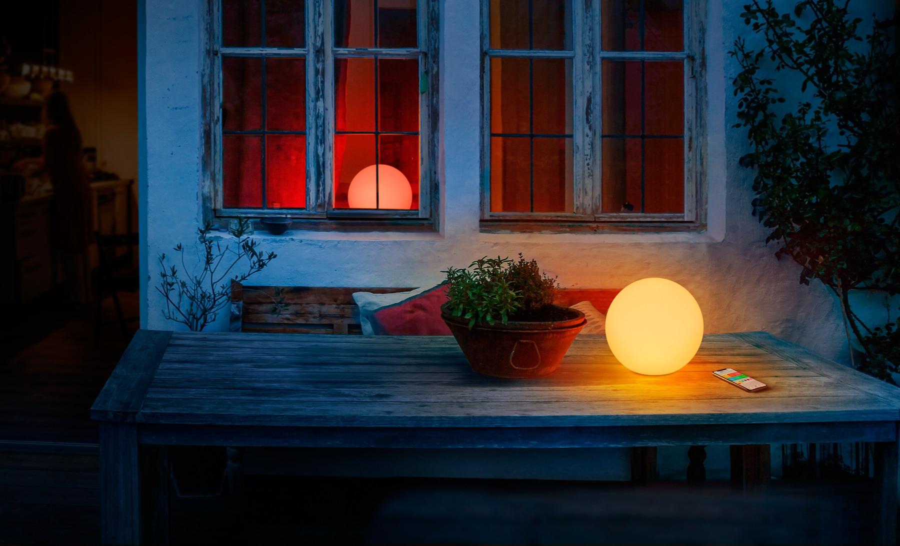 Anwesenheitsabhängige Lichtsteuerung für Terrasse und Balkon