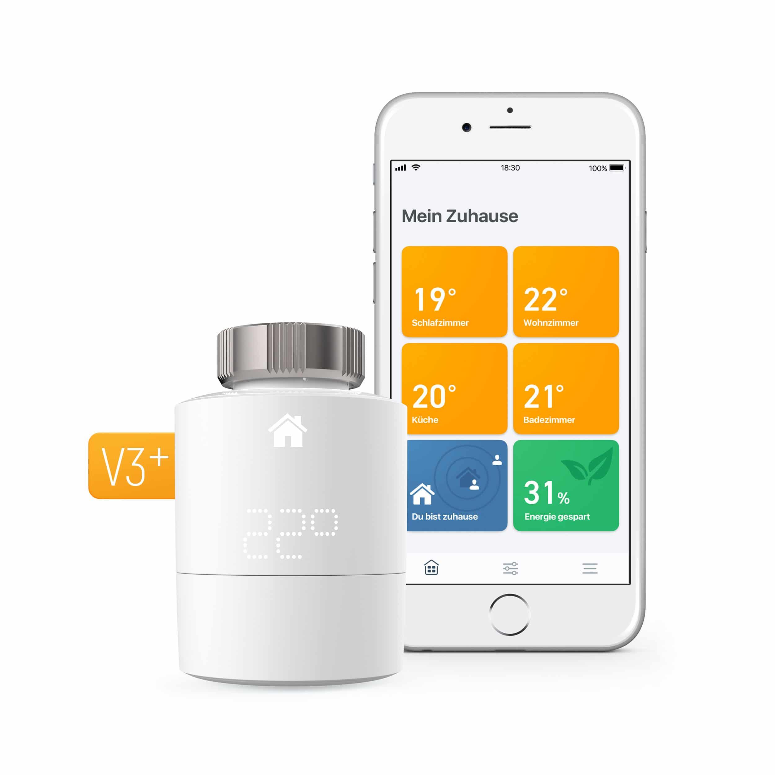 tado° Smartes Heizkörper-Thermostat V3+ Starter Kit