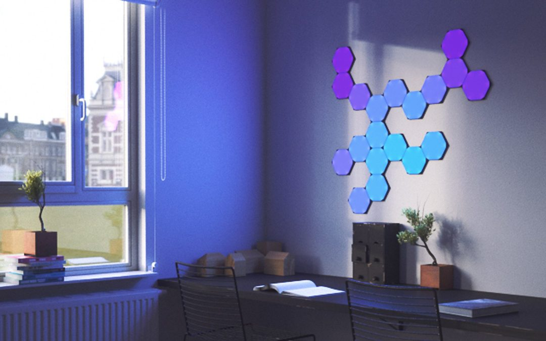 Neue sechseckige Lichtpaneele von Nanoleaf