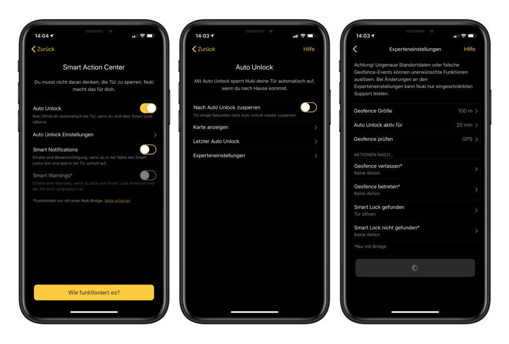 Nuki Türschloss Hersteller App