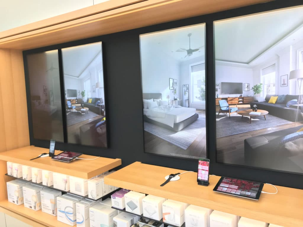 Aktueller HomeKit Demo Bereich im Apple Store