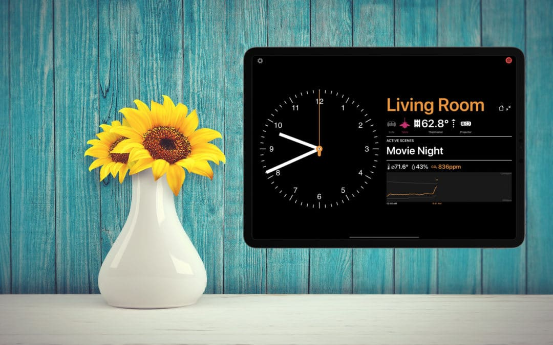 Wallflower: Neue HomeKit App für das iPad an der Wand
