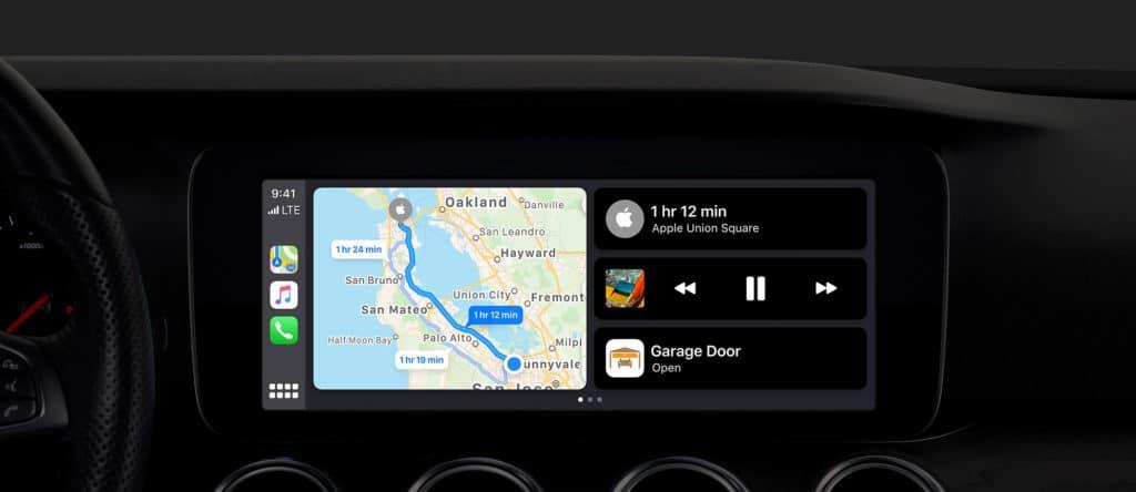 CarPlay zeigt Apple HomeKit Garagentor Schalter an