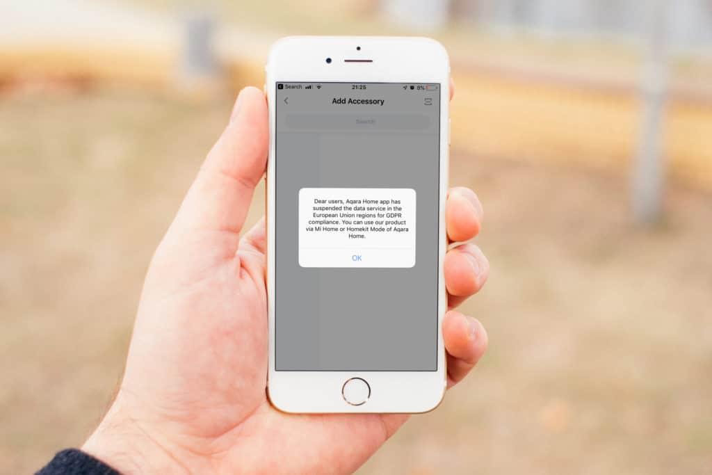 Aqara App funktioniert in Europa nicht mehr