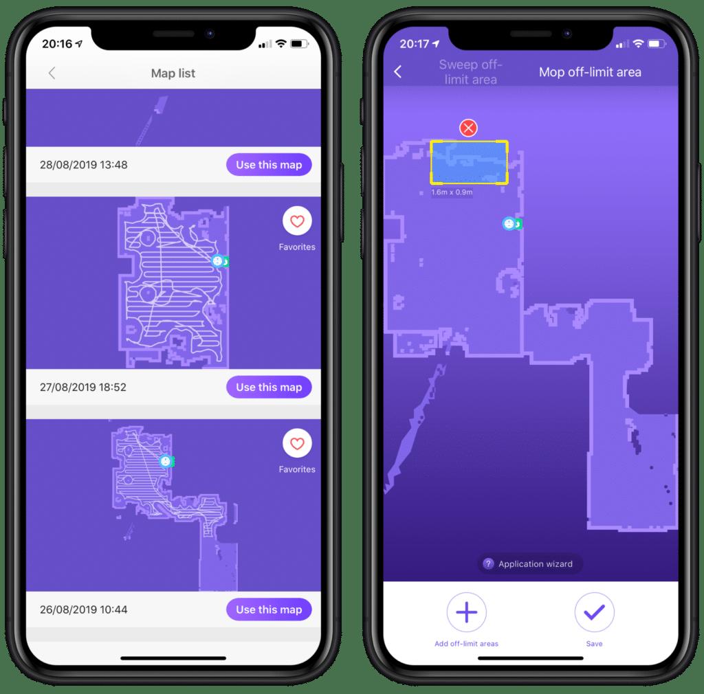 Staubsaugerroboter 360 S7 App No-Go-Zonen