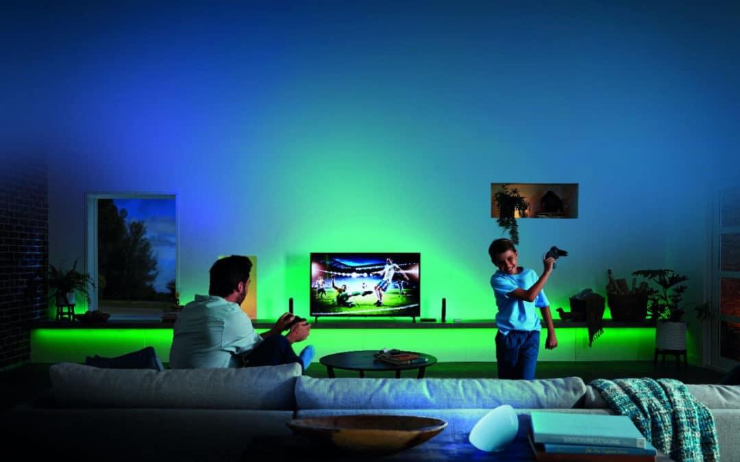 Philips stellt Hue Entertainment HDMI Box für den Fernseher vor