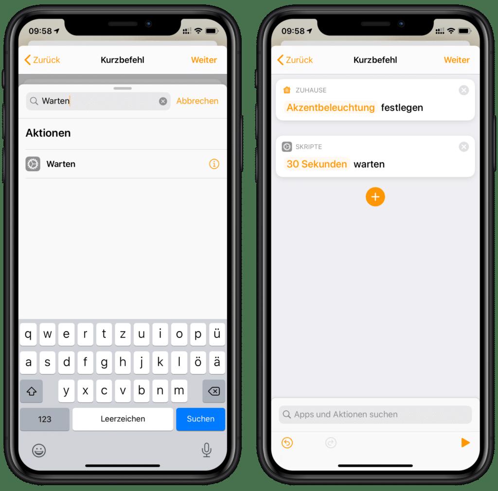 Zähneputzen mit Siri: Dauer einstellen