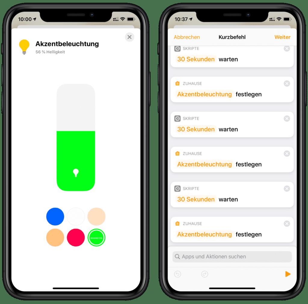 Zähneputzen mit Siri: Farbe ändern und Dauer einstellen