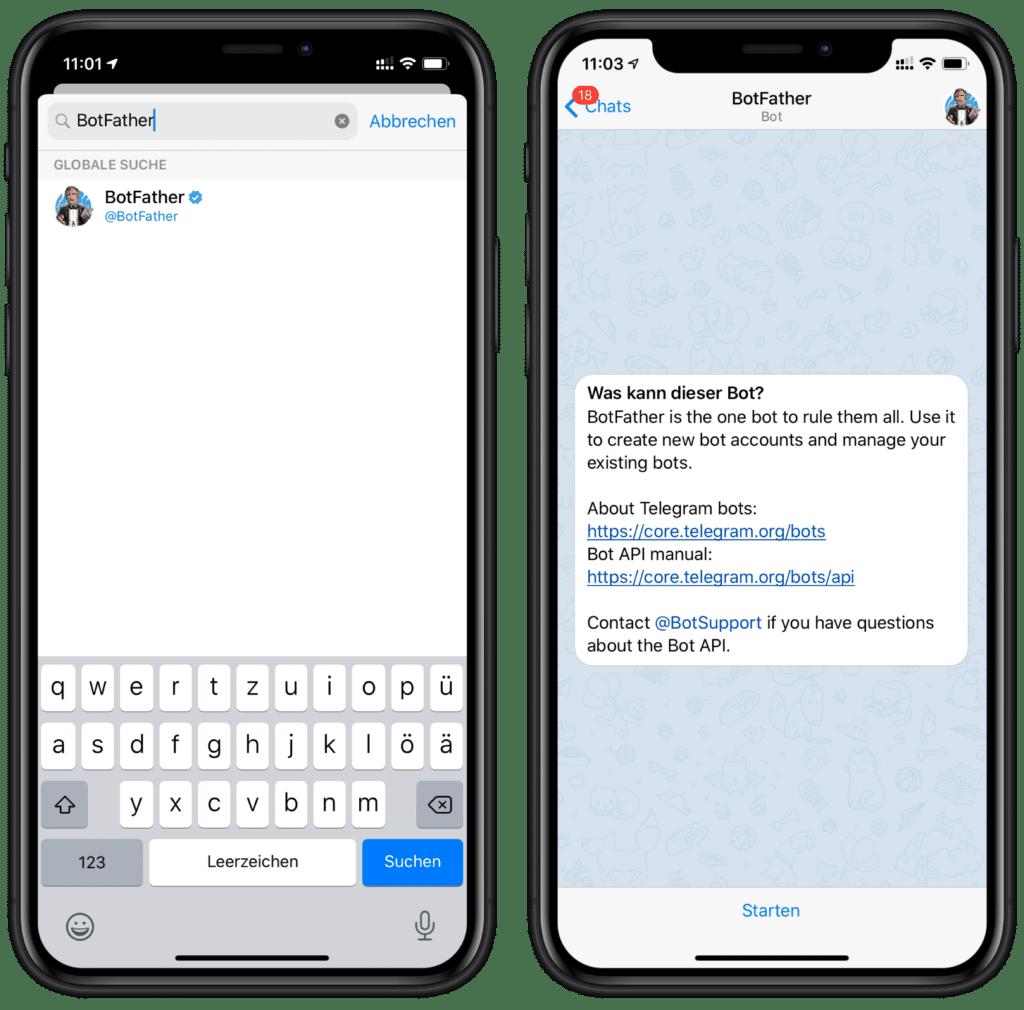 Eigene HomeKit Mitteilungen über Telegram versenden