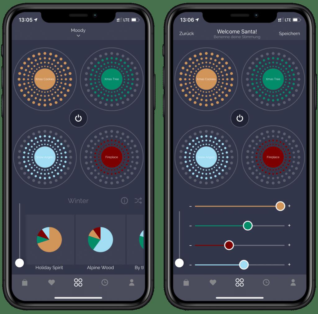 Intelligenter HomeKit Duftdiffusor Moodo - iOS App