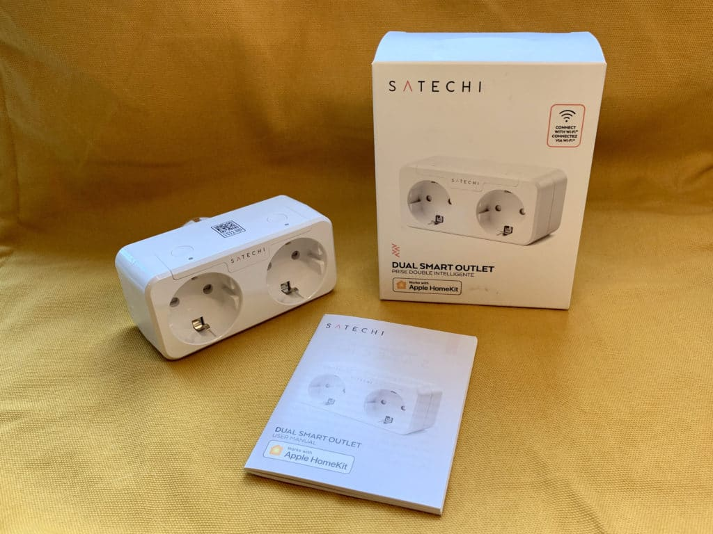 HomeKit Doppelsteckdose von Satechi - Lieferumfang