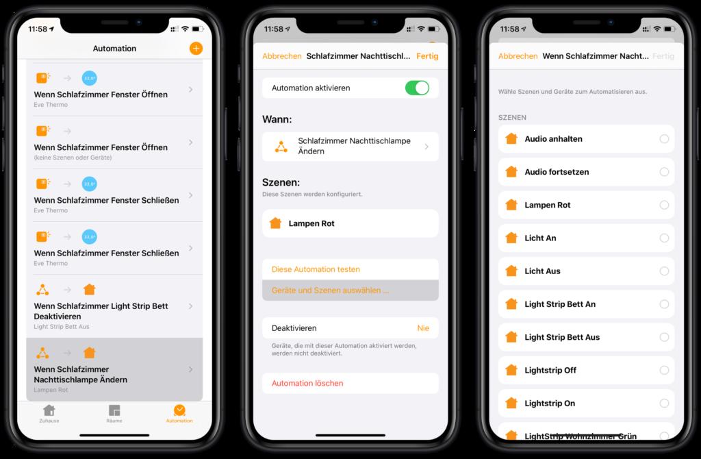 HomeKit Wake-Up Light - Automation bearbeiten