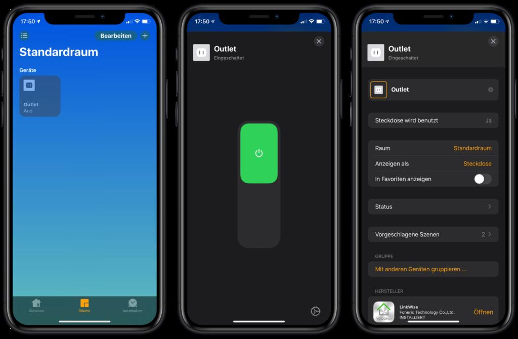 VOCOlinc VP3 in Apples Home App