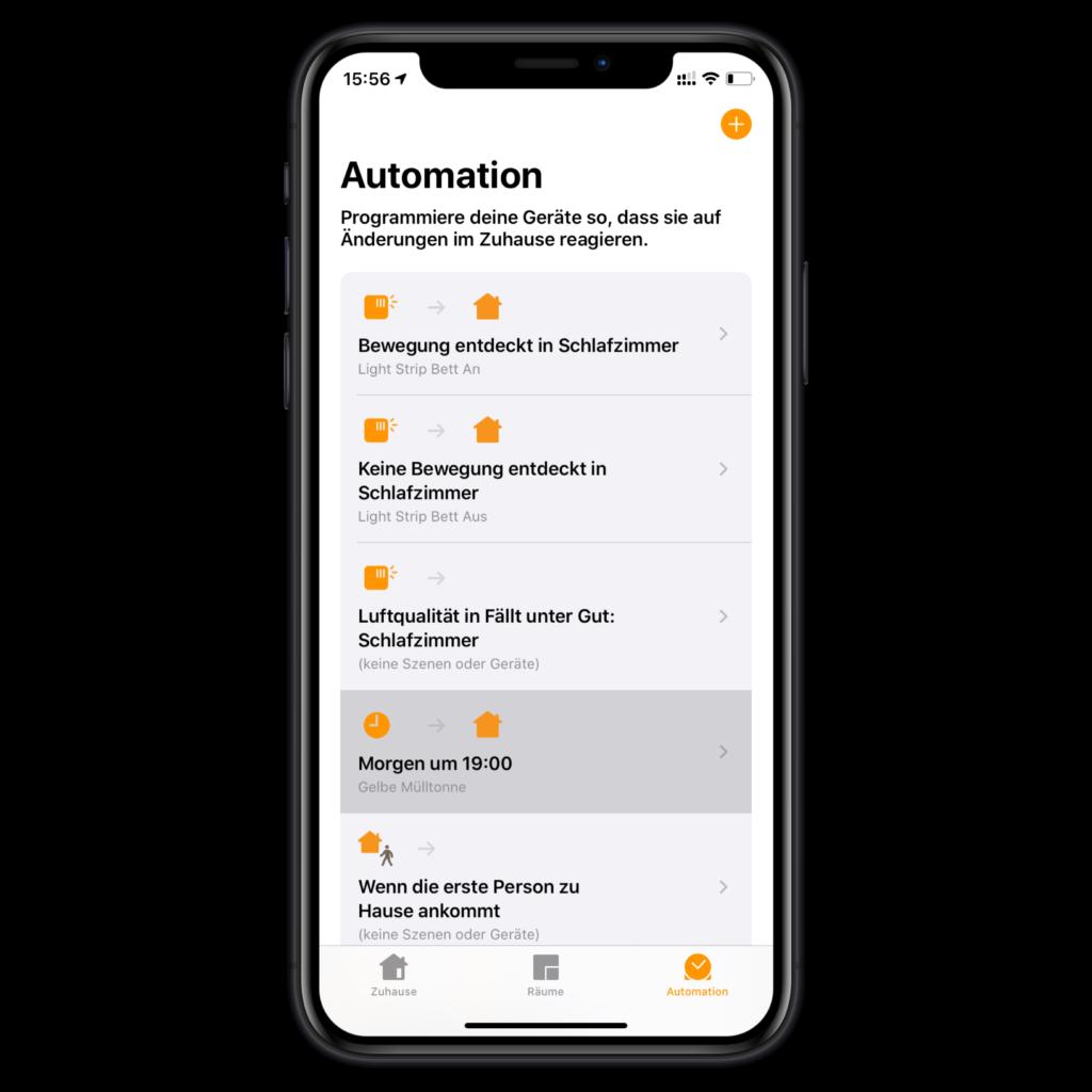 Abfallkalender Automation auswählen