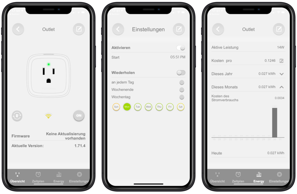 VOCOlinc VP3 Hersteller-App