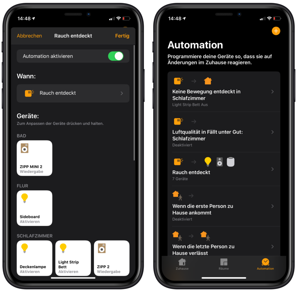 HomeKit Automation fertigstellen