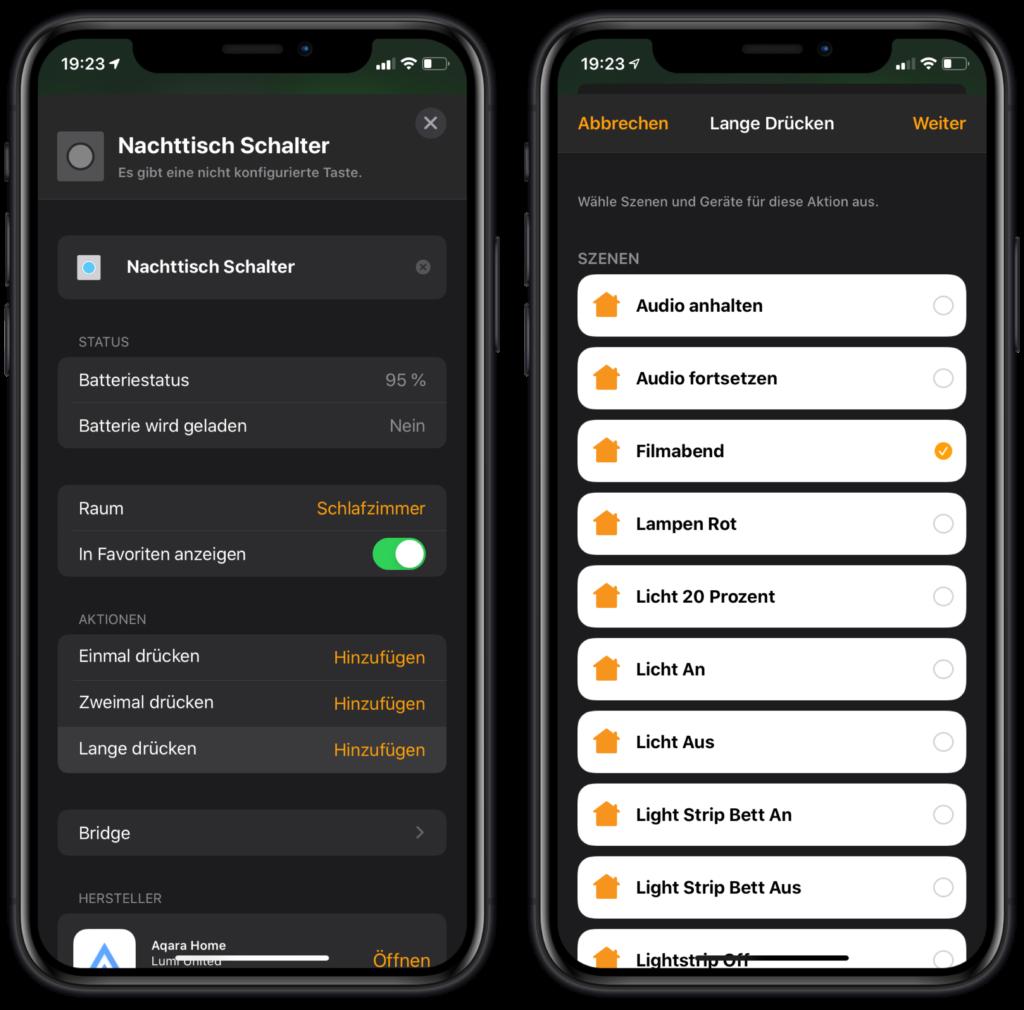HomeKit Sleep Timer - Schalter auswählen