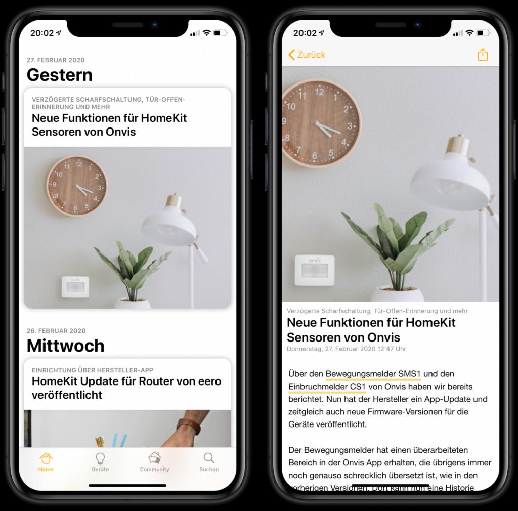 SmartApfel App - Bedienung