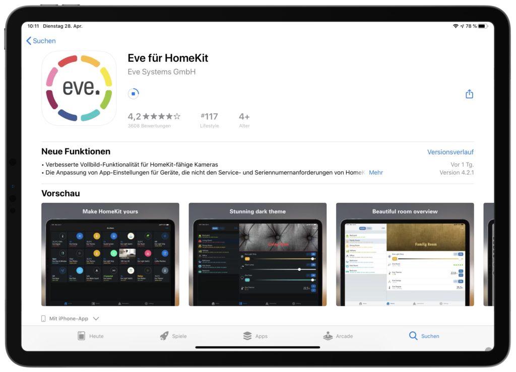 Eve Systems: App synchronisiert nun auch Homebridge Geräte
