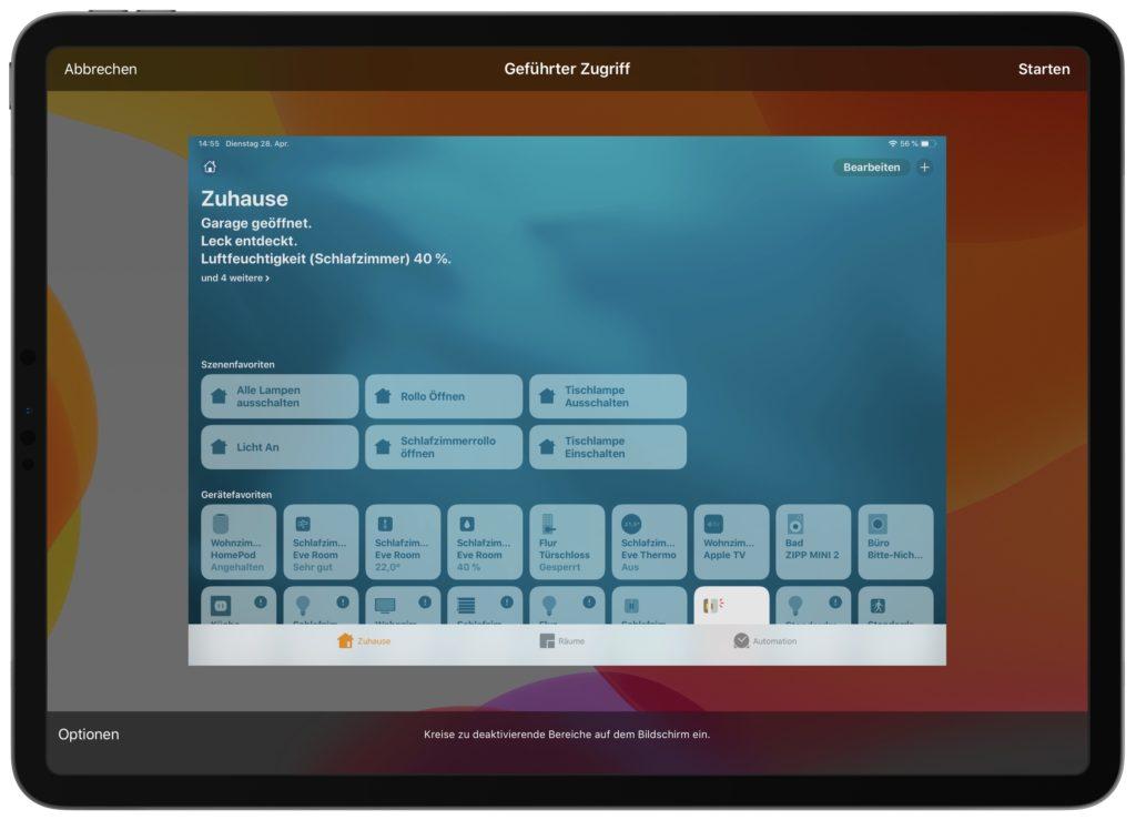 Apples Home App im geführten Zugriff nutzen