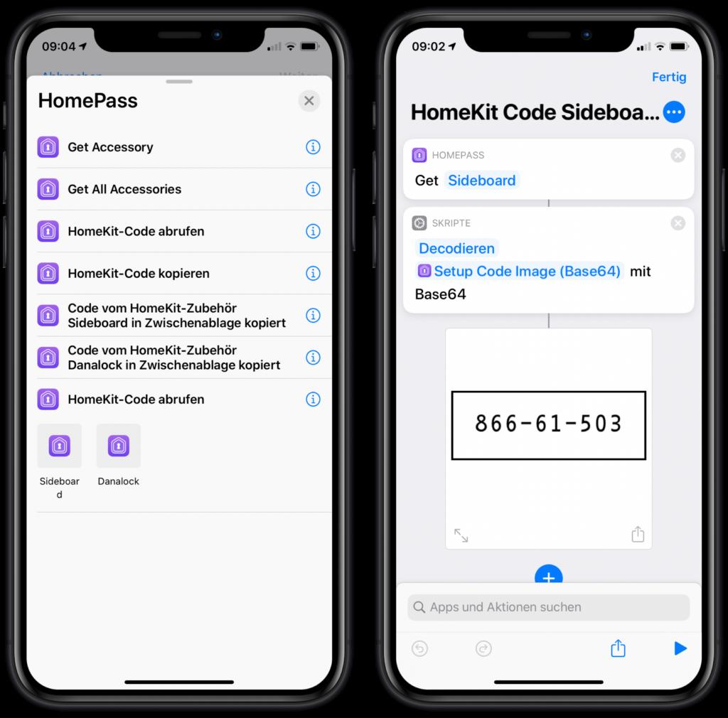 HomePass Siri Kurzbefehle