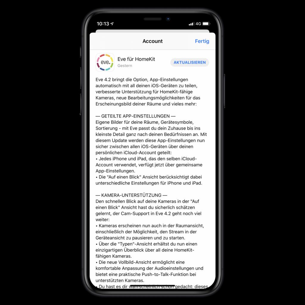 Eve Systems: Update bereitet App auf bevorstehenden Release der Eve Cam vor