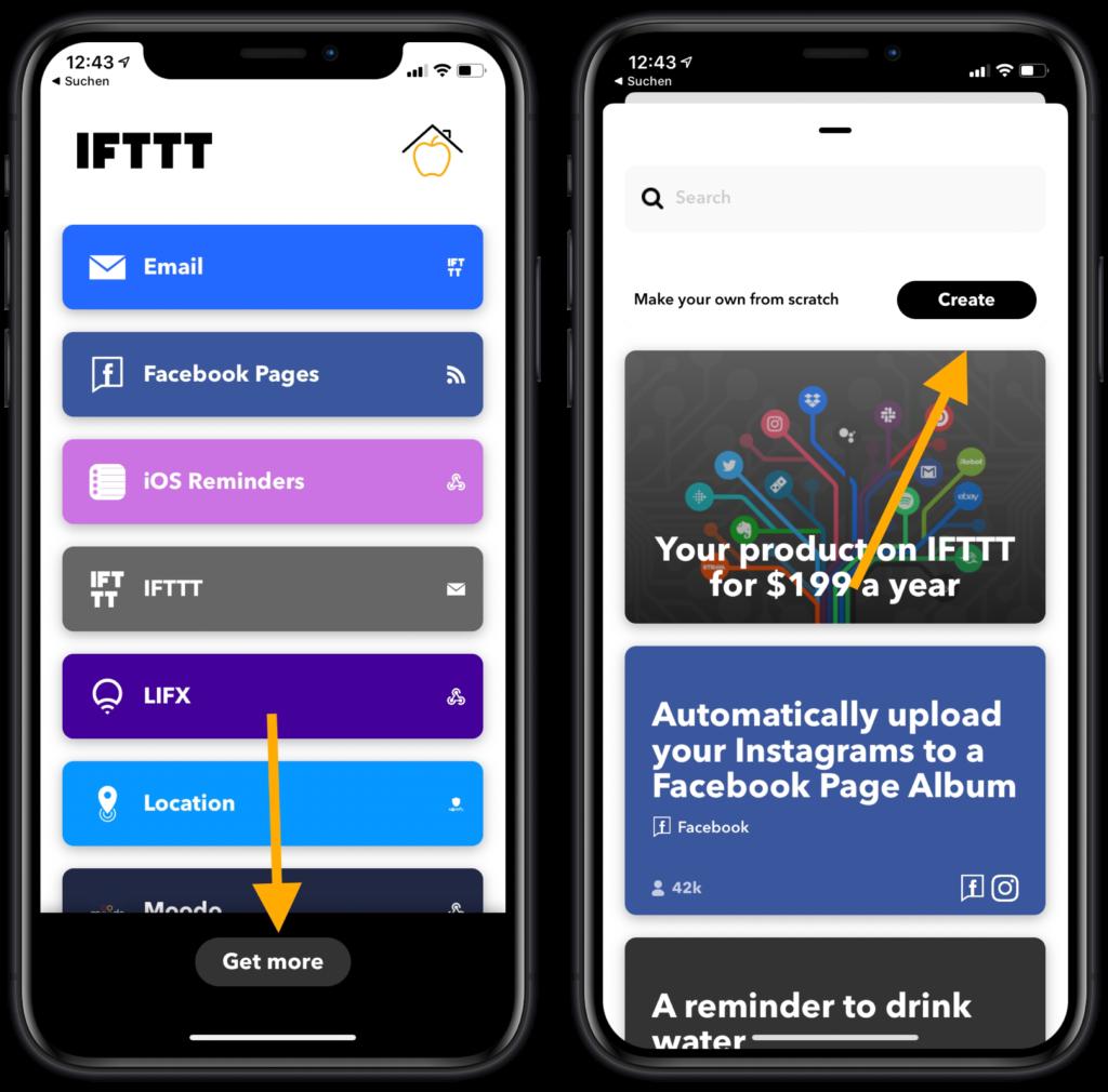 IFTTT-Applet erstellen