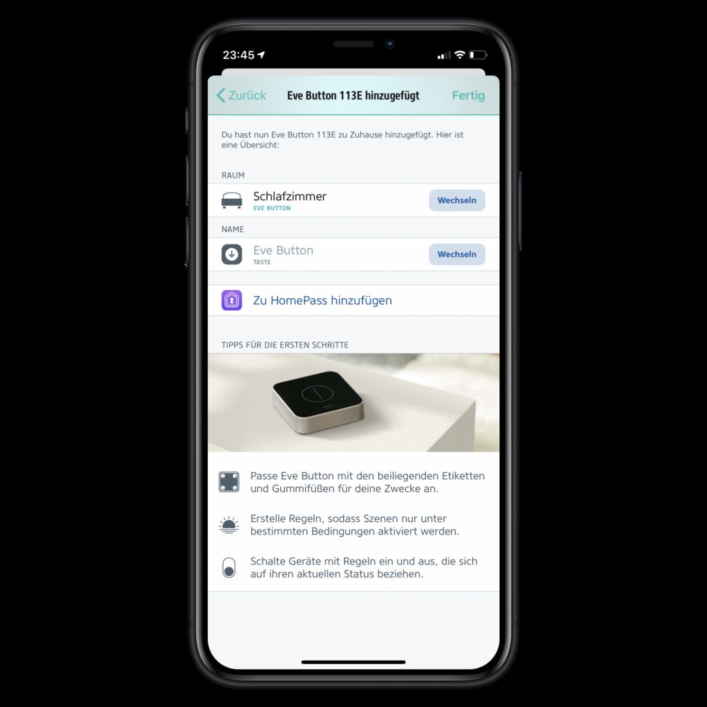 Eve Systems: App integriert HomePass
