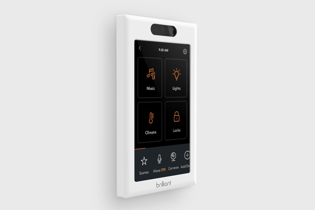 Brilliant Home Control: Display-Schalter lässt sich in HomeKit einbinden