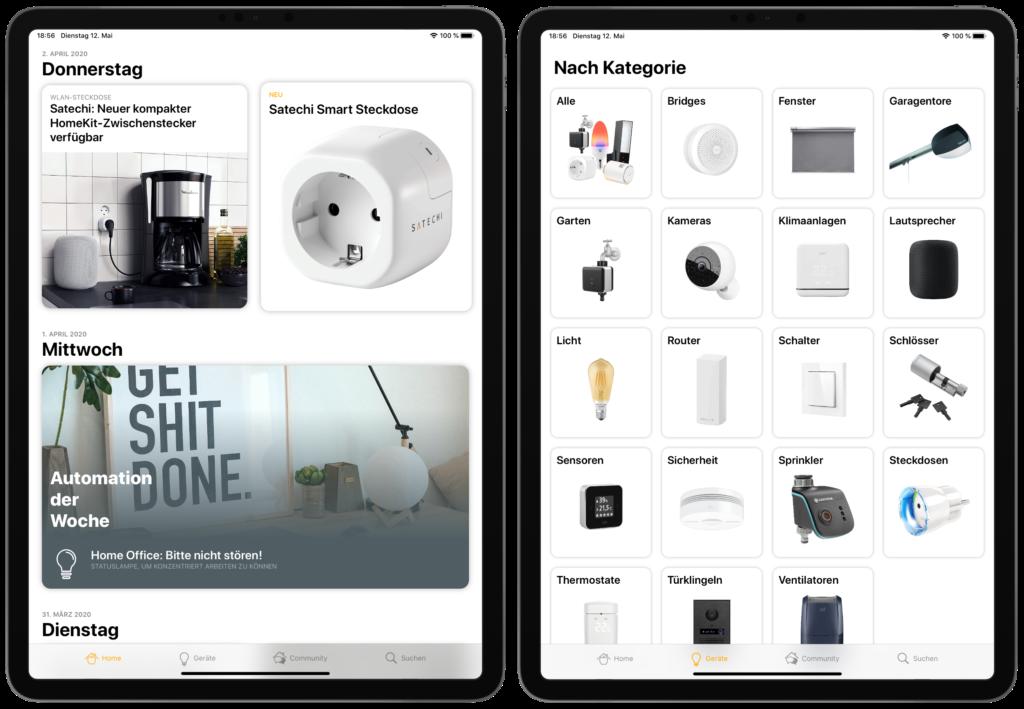 Optimierte iPad-Ansicht