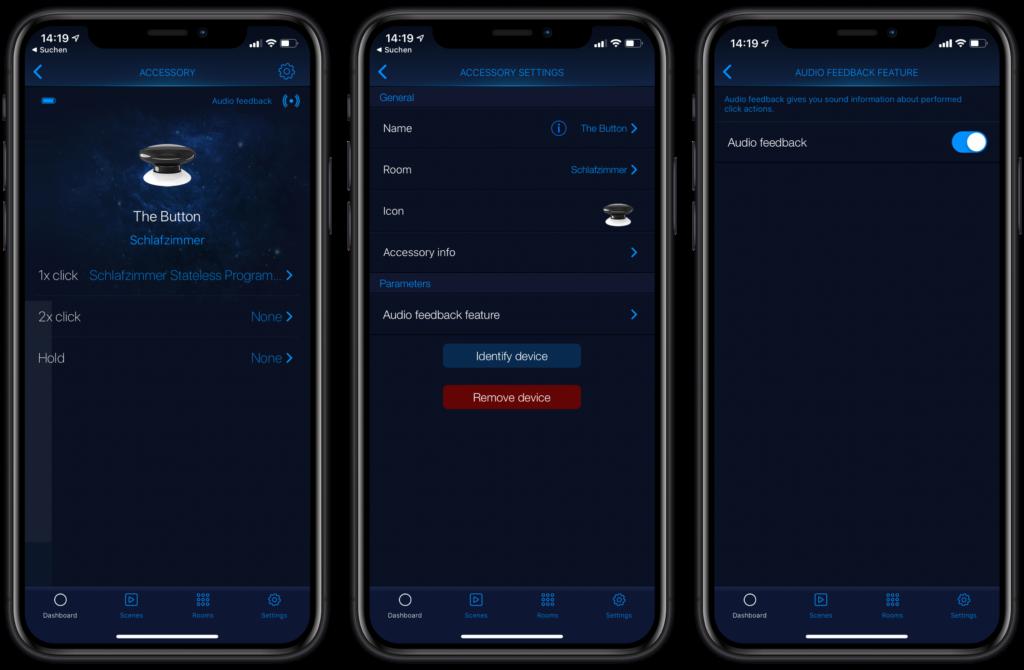 "Fibaro ""The Button"": Herstellereigene App"