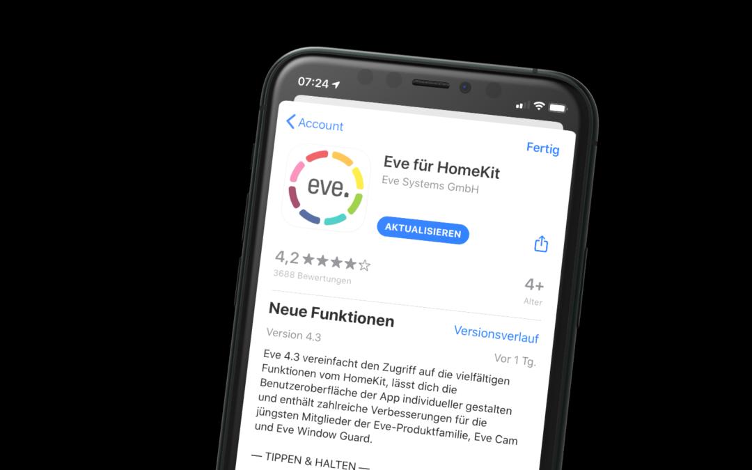 Eve Systems veröffentlicht großes App-Update
