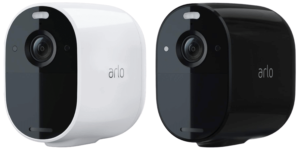 Arlo Essential Spotlight in weiß und schwarz