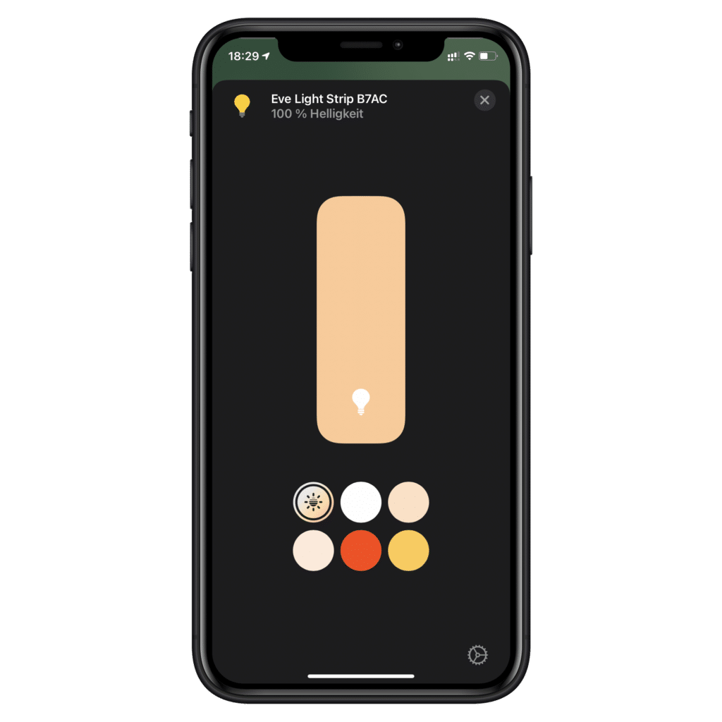 Apple HomeKit Adaptives Licht
