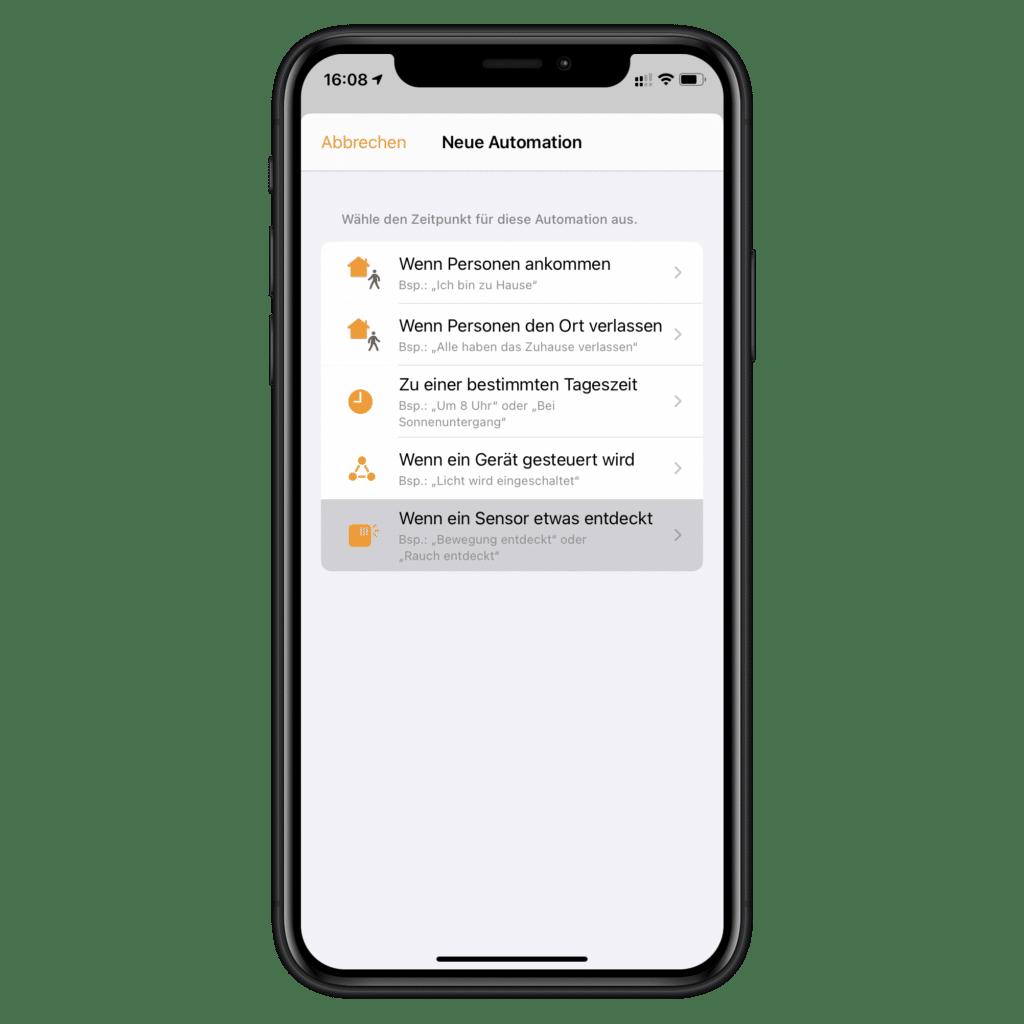 Neue HomeKit-Automation erstellen