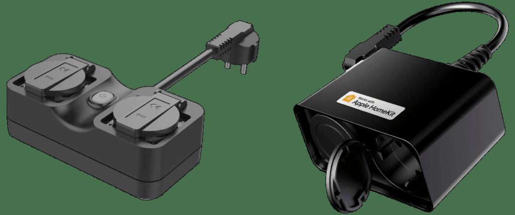 Alte und neue HomeKit-Außensteckdose von Meross