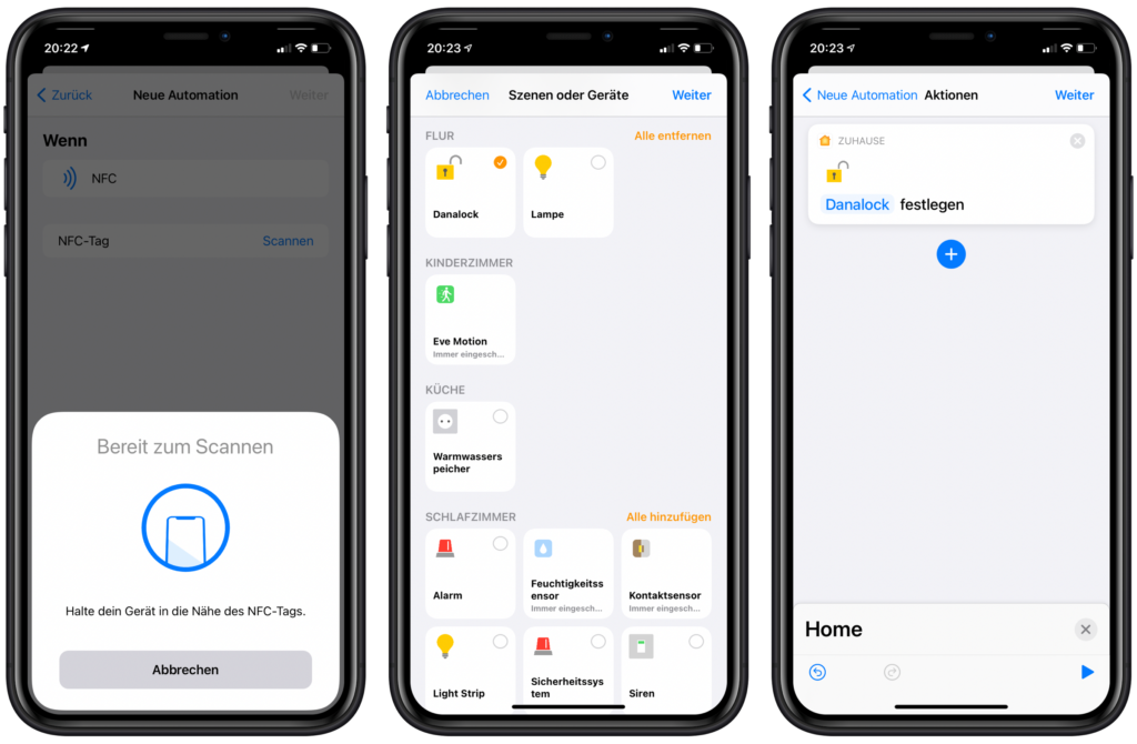 LinkDesk Smart Tag in Siri Kurzbefehle