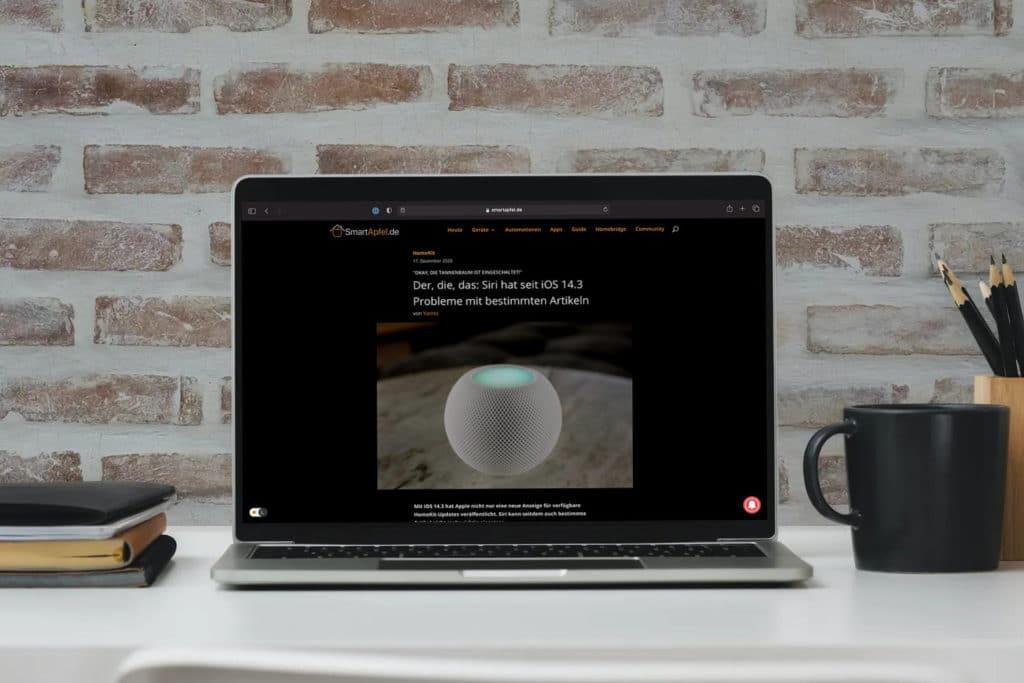 SmartApfel-Webseite erhält Dark Mode