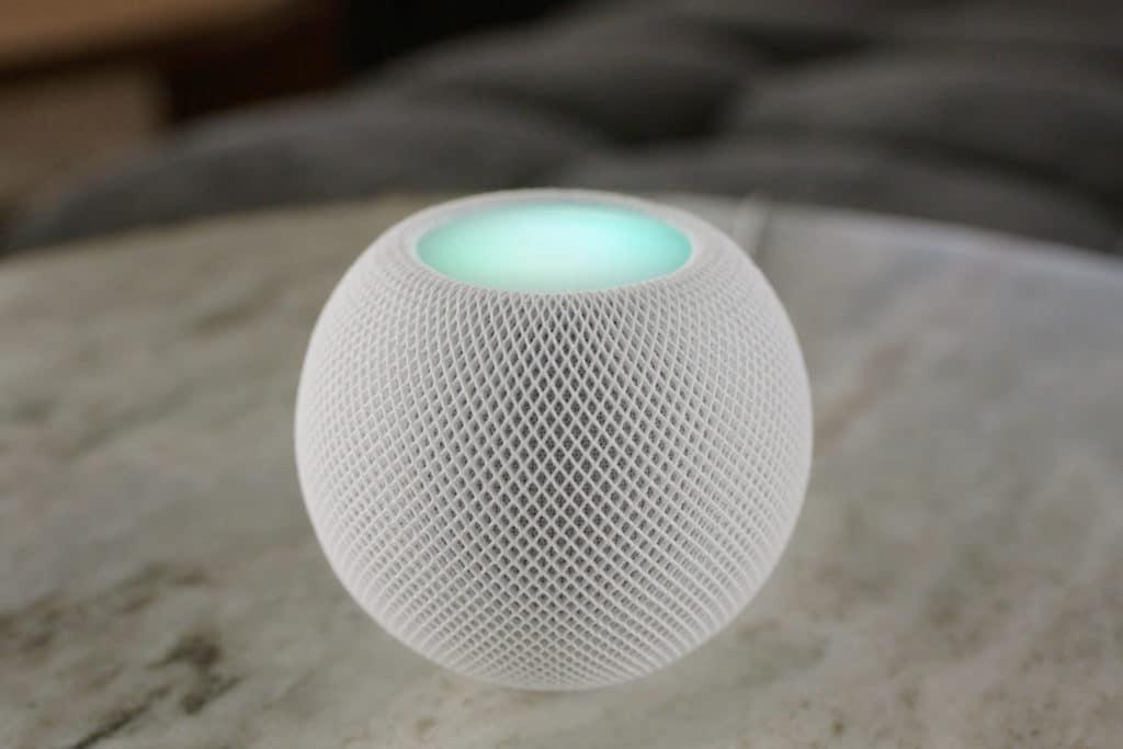 Siri auf dem HomePod mini