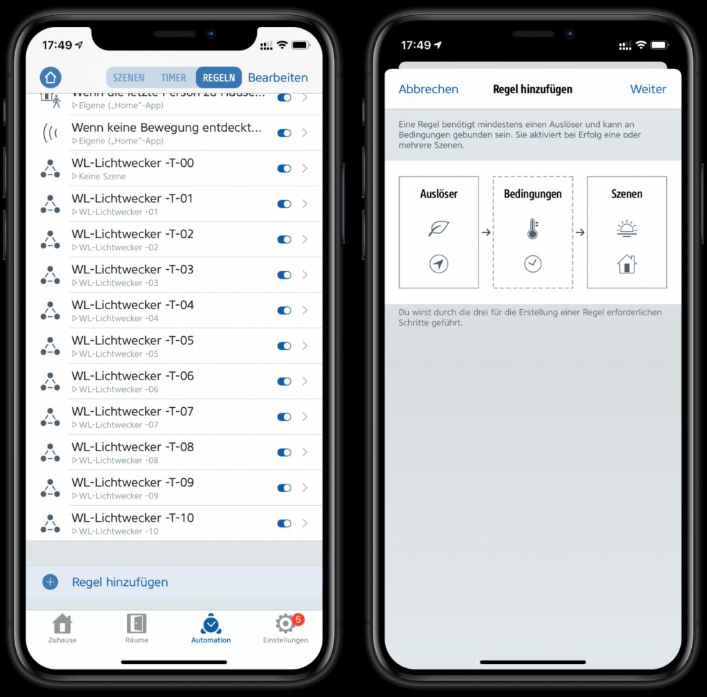 Neue HomeKit-Automation über die Eve App erstellen