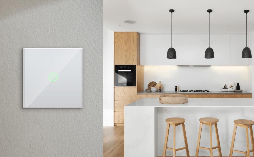 Berührungsempfindlicher HomeKit-Wandschalter mit LED-Statuslicht von Meross verfügbar